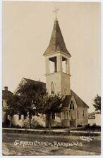 1910s BARRON WI St. Marks Church RPPC REAL PHOTO postcard Barron County