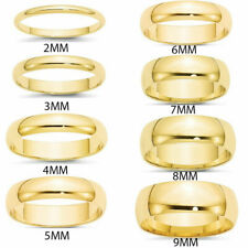 Free Engraving - Yellow Gold Tungsten Carbide Shiny Polish Wedding Band Ring