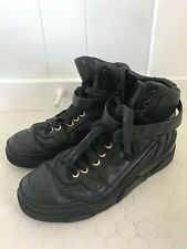Givenchy Tyson Black Leather High Top Sneakers Mens Size 42 US 8.5 Ysl Gucci
