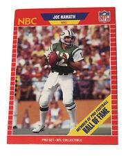 1989 Pro Set Joe Namath Football Card. Free Ship USA