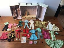 1964 Bubblecut Blonde Barbie Titian Skipper Dolls, Wardrobe Case Clothes Outfits