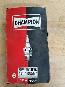 Champion Spark Plug Copper Plus Stock # 101 RN13LYC Box of 6 Plugs new
