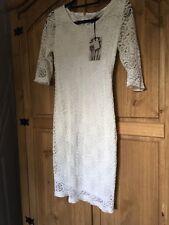 BNWT White/cream Midi Lace Pencil Dress *size 10 Petite* ASOS