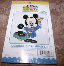 Disney Babies Mickey SHAKE, RATTLE & ROLL Counted Cross Stitch Kit!
