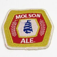 Vintage Molson Ale Patch 70s Brewery Beer Liquor Logo Shield Embrodiered