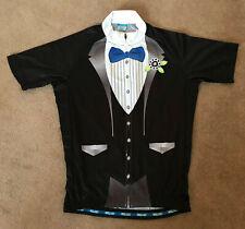 Mens Tuxedo Smart Funny Cycling Summer Jersey Size L/XL/XXL (UK seller)