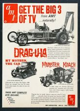 1966 Munster Koach~Drag~U~La AMT Model Kits~Barris Vintage Toy Promo AD