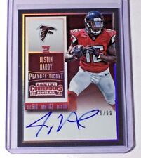 2015 Panini Contenders Playoff Ticket Rookie Autograph Justin Hardy /99 Falcons