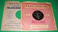 "EMMETT MILLER ""The Blues Singer"" (E/E+) PARLOPHONE R-1115; Rare [78 RPM] E/+"