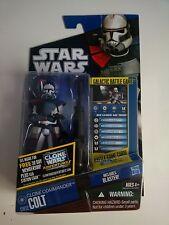 Star Wars Clone Wars Commander Colt CW52 moc 2011 US card near-mint !