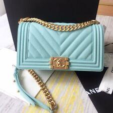 Chanel Boy Bag Sky Blue