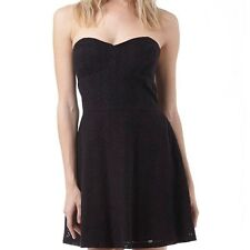 SUPERDRY WOMENS LACE DRESS - BLACK - PROM DRESS - X LARGE (SIZE 16) - BNWT