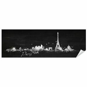 Postereck 0607 Poster Leinwand Panorama, Paris Wahrzeichen Frankreich