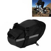 Negro Bolsa De Bicicleta Impermeable Bolsa Trasera Almacenamiento Ciclismo  G1Z9
