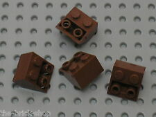 4 x LEGO RedBrown Slope Brick 3660 / Set 10144 7946 7662 10210 7197 6243 7948...