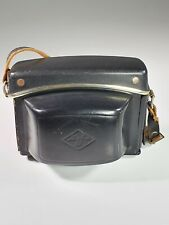 Vintage Collectible Agfa Camera LEATHER Hard Case Cover Black