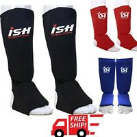 MMA Kick boxing Shin instep Leg Guard Muay Thai Protector TKD Pads UFC Guards