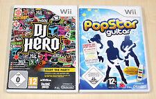 2 NINTENDO WII SPIELE SAMMLUNG POP GUITAR & DJ HERO
