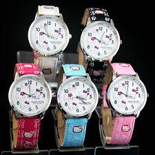 Hello Kitty Armbanduhren aus Edelstahl mit 12-Stunden-Zifferblatt