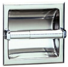 RBA RECESSED TOILET ROLL HOLDER 155mm Satin Stainless Steel