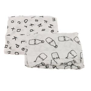 2x Newborn Infant Alphabet Cross Swaddle Baby Cotton Blankets Parisarc Wrap