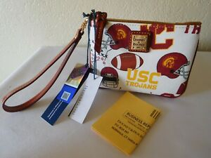 New Dooney & Bourke NFL USC Trojans Wristlet Bag Purse Clutch