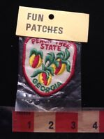Vtg FUN PATCHES Georgia Peach Tree State Patch 70WZ