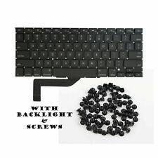 "NEW US Keyboard w Backlight 15"" Macbook Pro A1398 Retina 2013 2014 with Screws"