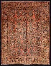 ANTICO TAPPETO PERSIANO SARUK SAROUK SAROUGH ANNODATO A MANO cm. 347 x 267