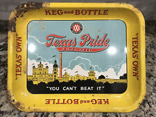 New listing Vintage Texas Pride Lager Beer Tray Sign San Antonio Texas Brewing Pearl Xxx