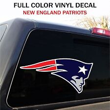 """New England Patriots Window Decal Graphic Sticker Car Truck SUV - 12"""" wide"""