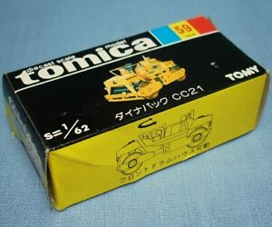 TOMY TOMICA DIECAST SCALE MODEL 59 DYNAPAC CC21 CONSTRUCTION TRUCK EMPTY BOX
