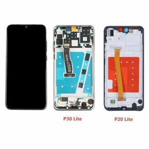 For Huawei P20 Lite ANE-LX1 P30 Lite MAR-LX3A LCD Touch Screen Digitizer + Frame