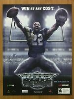 Blitz: The League Xbox 360 PS2 2006 Vintage Print Ad/Poster Official NFL Promo