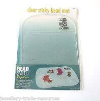 "BEADSMITH 5.5"" x 7.5"" CLEAR STICKY BEAD MAT BEADING & JEWELLERS BENCH WORK MAT"