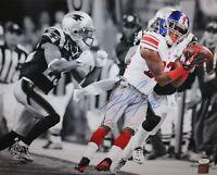 Mario Manningham Autographed Giants 16x20 B&W Color Catch Photo PF - JSA W Auth