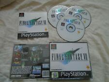 Final Fantasy 7 VII PS1 (COMPLETE) Sony PlayStation RPG black label