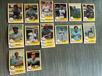 1981 MILWAUKEE BREWERS Fleer Baseball Card Team Lot 15 Cards +6 Ex. YOUNT COOPER