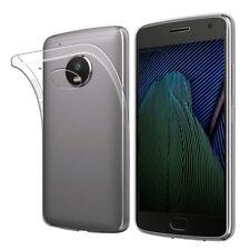 Silikoncase TRASPARENTE 0,3 mm ultradünn Guscio per Motorola Moto g5s Borsa Nuovo