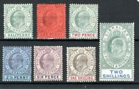 Gibraltar 1903 values to 2s MH