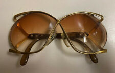 Vintage Christian Dior Gold Tone Eye Glasses Sunglasses Frames As-Is