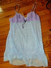 Victoria's Secer lilac babydoll sheer lingerie small