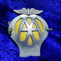 CLASSIC AA CAR BADGE - SERIAL NUMBER (3B04505) Vintage - MID CENTURY