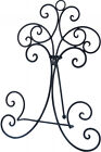 French Provincial Rusty Iron Book Plate Stand Holder Black Easel 37.5cmH