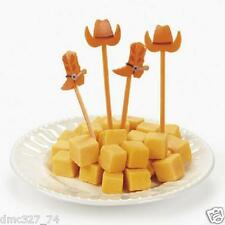 Party Supply WESTERN COWBOY HATS & BOOTS PICKS Food Cupcakes Hors D'oeuvres