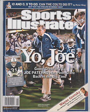 Joe Paterno SIGNED NL Sports Illustrated Penn State Nittany Lions w/  PROOF