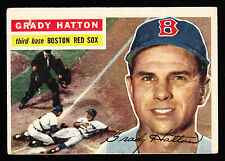 1956 TOPPS #26 GRADY HATTON RED SOX WHITE BACK