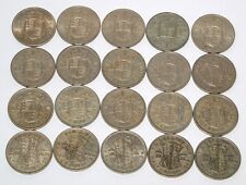 Half Crown Coins Collection Set of 20 Different dates 1947 to 1967 Great