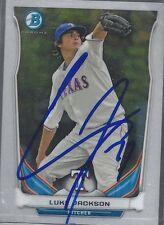 Texas Rangers LUKE JACKSON Signed Chrome Card