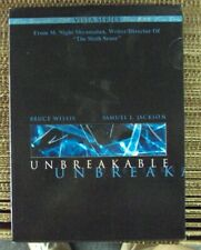 Unbreakable 2xDvd w/slipcover Vista Series M. Night Shyamalan Bruce Willis